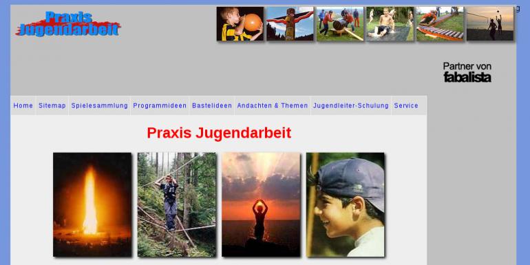 Screenshot praxis-jugendarbeit.de